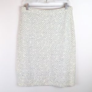 St. John Santana Knit Cream Confetti Boucle Skirt
